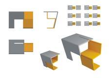 biurko nowożytny Zdjęcia Stock