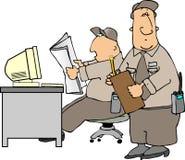 biurko ochrony ilustracja wektor