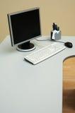 Biurko przy biurem Zdjęcia Stock
