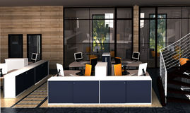 biurko system wewnętrzny biurowy Ilustracja Wektor