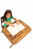 biurko urocza dziewczyna Obraz Stock