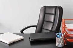 Biurko z dwa laptopami Obraz Royalty Free