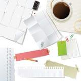 biuro dostawy papierowe ustalone Obrazy Stock