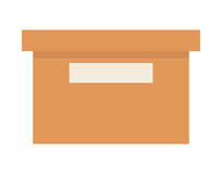 biuro ikony pudełko odizolowywający projekt Obraz Royalty Free