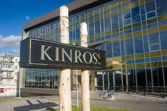 Biuro Kinross Złoto Korporacja w Magadan Obraz Stock