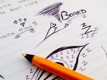 biuro notepad bliżej spotkań szkice do pracy Fotografia Stock