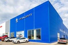 Biuro oficjalna handlowa Peugeot firma fotografia royalty free