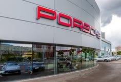 Biuro oficjalny handlowiec Porsche zdjęcia stock
