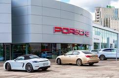 Biuro oficjalny handlowiec Porsche zdjęcia royalty free