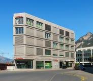Biuro Raiffeisen bank w mieście Chur, Szwajcaria fotografia stock