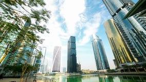 Biuro relaksuje miejsca 4k czasu upływ od Dubai miasta zdjęcie wideo