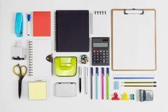 Biuro, szkoła przyrząda i materiały dostawa i obraz royalty free