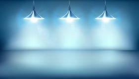 Biuro z wiszącymi lampami również zwrócić corel ilustracji wektora Zdjęcia Royalty Free