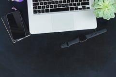 Biurowa desktop scena Zdjęcie Stock