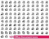 101 biurowa dokument ikona Obrazy Royalty Free