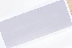Biurowa falcówka dla swój etykietki na bielu Zdjęcia Royalty Free