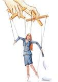 Biurowa marionetka Zdjęcia Stock