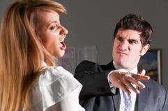biurowa przemoc Zdjęcie Stock