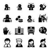 Biurowa syndrom ikona royalty ilustracja