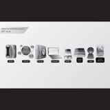 Biurowa Szklana ikona Obraz Royalty Free