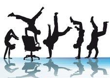 Biurowe akrobacje ilustracji