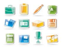 biurowe biznesowe ikony Zdjęcie Royalty Free
