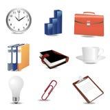 biurowe biznesowe ikony ilustracji