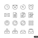 Biurowe & Biznesowe ikony ustawiają - Wektorową ilustrację Fotografia Stock