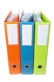 Biurowe falcówki z dokumentami. Obrazy Stock