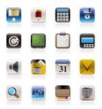 biurowe finansowe biznes ikony Obrazy Stock