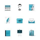 Biurowe ikony. Azzuro serie ilustracja wektor