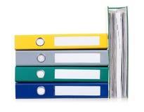 biurowe kolorowe falcówki Zdjęcie Royalty Free