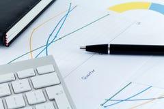 Biurowego biurka biznesmena Workspace Zdjęcie Stock