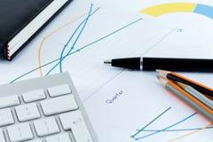 Biurowego biurka biznesmena Workspace Obraz Royalty Free
