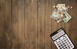 Biurowego biurka stół z dostawami Fotografia Stock