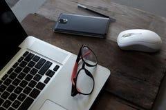 Biurowego biurka stół z komputerem Obraz Stock