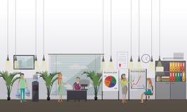Biurowego prezentaci pojęcia wektorowa ilustracja w mieszkanie stylu royalty ilustracja