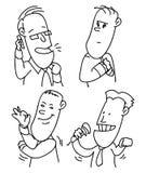 Biurowi ludzie kreskówek Zdjęcie Royalty Free