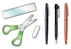 biurowi narzędzia ilustracja wektor