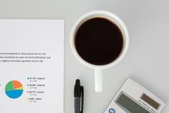 Odgórna perspektywa Biały Desktop obrazy royalty free