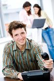 biurowy biznesmena telefon Obraz Stock