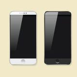 Biurowy desktop widok Smartphone Zdjęcie Royalty Free