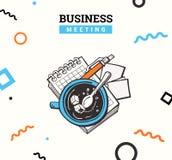 Biurowy doodle ikon kolor Zdjęcie Royalty Free