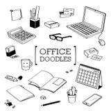 Biurowy Doodle, ręka rysunku biuro style Fotografia Royalty Free