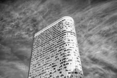 Biurowy drapacz chmur z okno na powlekanie fasadzie, los angeles obrona, F Zdjęcie Stock