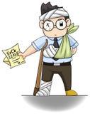 Biurowy facet wręcza chorego urlopu list dla jego  ilustracji