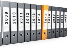 Biurowy falcówka nowy rok 2015 Obrazy Stock