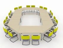 Biurowy konferencyjny biurko Obraz Royalty Free