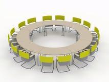 Biurowy konferencyjny biurko Fotografia Royalty Free