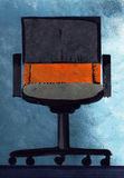 Biurowy krzesło, ręka rysująca Fotografia Royalty Free